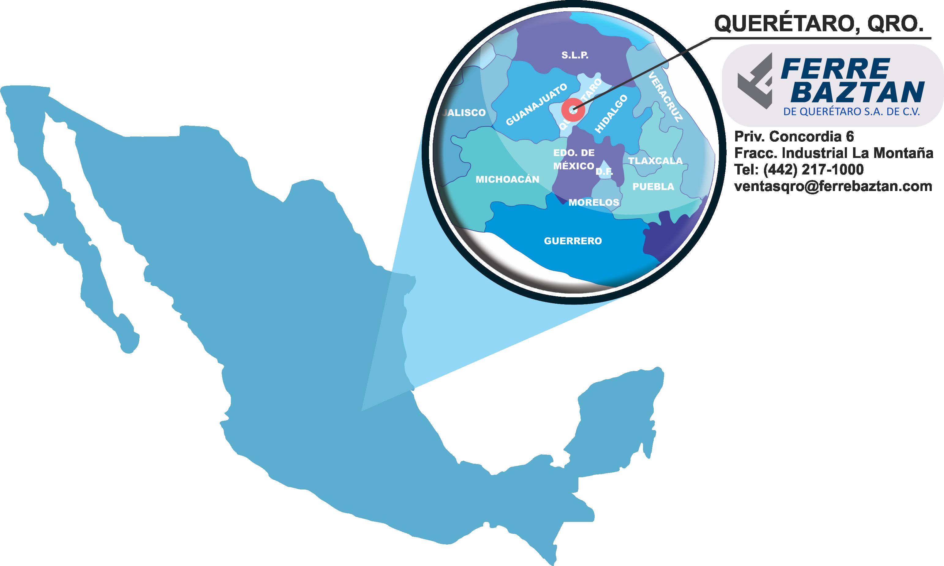 mapa MEX